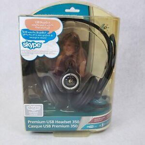 Logitech Premium USB 350 Black Headsets, Noise Cancellation & Microphone New