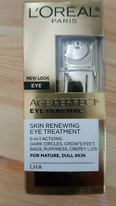 NEW IN BOX L'Oréal Age Perfect Eye Renewal Skin Renewing Eye Treatment 0.5 Fl Oz