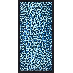 """Cheetah Blue Beach Towel - 30"""" x 60"""" - Velour - Made In Brazil"""