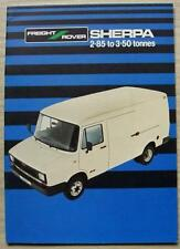 FREIGHT ROVER sherpa 2.85 To portée 3.50 T ventes brochure c1932 #FR57
