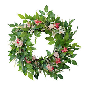 Spring Wreath for Front Door ,Summer Wreath Handmade ,19 Inch Wreath ,Farmhouse