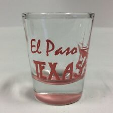El Paso Texas Star Pink Collectible Shot Glass PreownedKitchen.com Souvenir