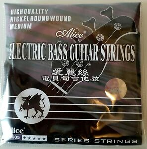 Brand New Alice A605 Electric Bass Guitar String Set (Medium)