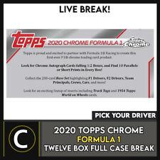 2020 TOPPS CHROME carreras de fórmula 1 12 Caja caso romper #N013 - Elige Tu Controlador
