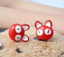 "KIKI""s Delivery Service 3D Red Cat Japan Studio GHIBLI Kawaii Studs Earrings"