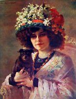 Hanger Miss Fleece Blanket Polychrome Comoedia Shown N° 11 1909