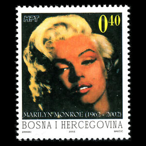 Bosnia 2002 - 40th Anniversary of the Death of Marilyn Monroe -  Sc 88 MNH