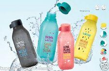 New Tupperware Square Eco Bottle (4) 500ml Multi-Colour