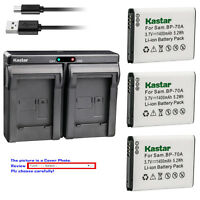 Kastar Battery Dual Charger for Samsung Genuine BP-70A BP70A battery and charger