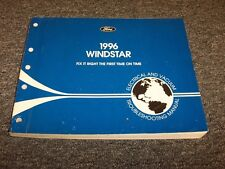 1996 Ford Windstar Van Electrical Wiring & Vacuum Diagram Manual GL LX V6