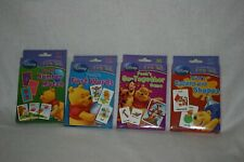 lot of 4 Disney Winnie the Pooh flash cards, numbers words together colors new