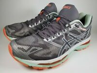 Asics GEL-Nimbus 19 Running Shoe Carbon White Flash Coral T750N Womens Size 10.5