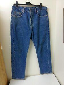 Levis 618 Mens Jeans Size 36 Waist 30 Leg Blue Denim Button Up