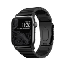 NOMAD - Metal Steel Watch Band for Apple Watch 42mm / 44mm - Black 🌊