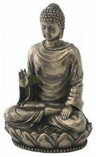Sakyamuni Buddha Miniature Meditation Statue Figurine Warm Bronze Color  #1919A