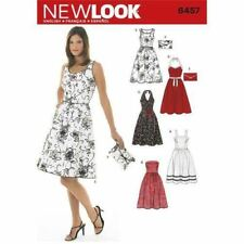 New Look Sewing Pattern 6457 SZ 6-16 Misses' Easy Dresses 5 Styles Clutch bag