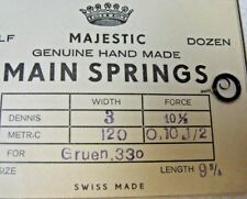MAJESTIC Gruen .330 Watch Mainspring New Old Stock Watch Parts