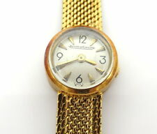 Vintage Jaeger LeCoultre Miniature Back Wind 18K Yellow Gold Lady's Watch