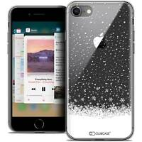 "Coque Crystal Gel Pour iPhone 8 (4.7"") Extra Fine Souple Noël 2017 Flocons de Ne"