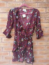 New Urban Outfitters Pins and Needles Floral Wrap Dress Size Small 8-10 RRP £46