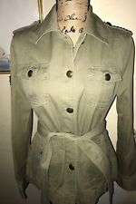 GAP MILITARY STYLE JACKET~STAR STUDDED SHOULDER TABS~PATCHED SLEEVE~GREEN~SMALL