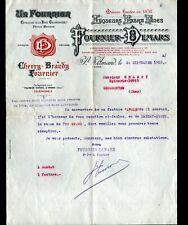 """SAINT-AMAND-MONTROND (18) DISTILLERIE / LIQUEUR """"FOURNIER-DEMARS"""" Lettre en 1918"""
