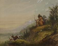 Pawnee Indian Shooting Antelope AJ Miller, 6x5 Inch Print