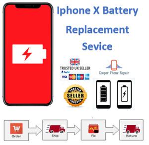 Apple iPhone X Battery Replacement / Repair Service - Same day repair and return