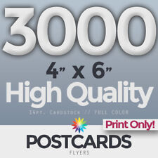 """3000 Full Color 4""""x6"""" POSTCARDS/FLYERS -BOTH SIDES- PRINTING ONLY! FREE SHIPPING"""