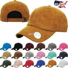 039fc178 6 Panel Suede Dad Hat Baseball Classic Adjustable Soft Plain Cap