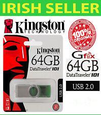 64 GB Kingston DT101 G2  USB Pen Drive Memory Stick GENUINE 100%