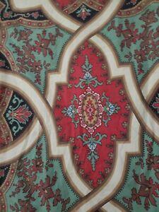 POTTERY BARN Full/Queen Duvet Cover ASHTON MEDALLION Trellis Red  ORGANIC