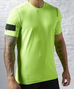 Reebok One Series Advantage Cooling Lime Shirt * Size Small Mens