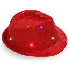 6c36613d43c Flashing Light Up Led Fedora Trilby Sequin Unisex Fancy Dress Dance Party  Hat UK