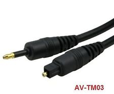3 ft. Toslink to Mini-Toslink Optical Cable, AV-TM03