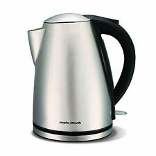 Morphy Richards Brushed Stainless Steel Jug Kettle 1.7l 3000w Cordless