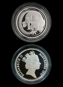 1991 Australia 1c 99.99% Silver Proof Masterpiece Coin New Sealed RARE Beautful