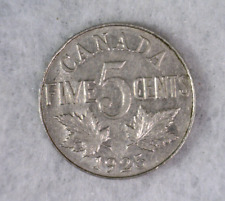 CANADA 5 CENTS 1925 EXTRA FINE COIN (stock# 009)