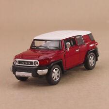 2010 Toyota FJ Cruiser Model Car Red 1:36 12cm Pull-Back Die-Cast Doors Open