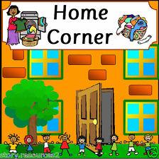 HOME CORNER CLASSROOM DISPLAY ROLE PLAY SET TEACHING RESOURCES KS1 EYFS Resource