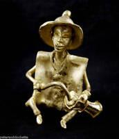 Musicista Ottone Djembe Arte Tribale Antenato Africano 1