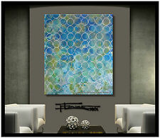 ABSTRACT PAINTING CANVAS WALL ART Large, Signed, Framed, US ELOISExxx