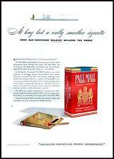 PUBBLICITA' 1940 PALL MALL SIGARETTE TABACCO FUMO SMOKE PACCHETTO FIAMMIFERI BAR
