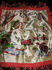 "Vintage Silk Pillow Case Cover - Canada Souvenir - 1940' - ""My Wife"" poem"