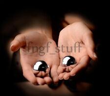 Geisha Ben Wa Balls 1.3 in Kegel Exercise Pelvic Tightening Stimulating Silver