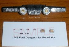 1948 FORD WOODY, CONVERTIBLE and COUPE GAUGE FACES for 1/25 scale REVELL KITS