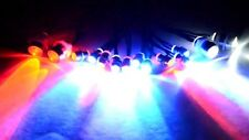RC LED Lights for Police Vehicle Red / Blue Flashing LEDs 2W2R10mm 10RBF 5mm