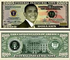 BARACK OBAMA 2009 BILLET COMMEMORATIF DOLLAR US! Collection PRESIDENT ETATS UNIS