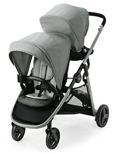 Graco Baby Ready2Grow LX 2.0 One-Step Self-Standing Fold Double Stroller Clark