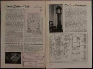 Early American Grandfather Clock 1944 HowTo Build PLANS